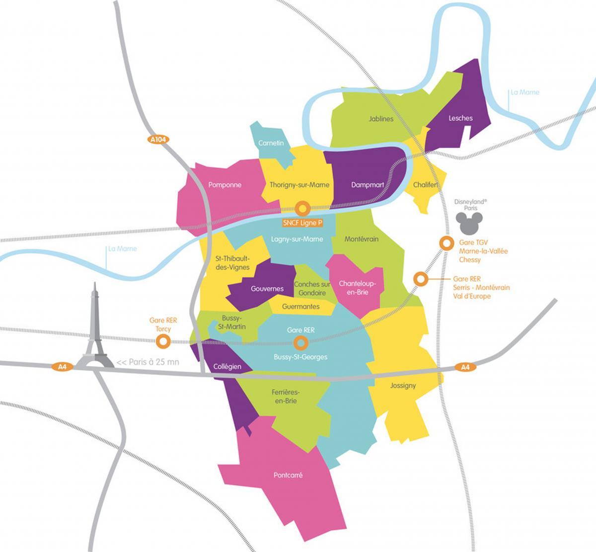 Carte CAMG 20 communes